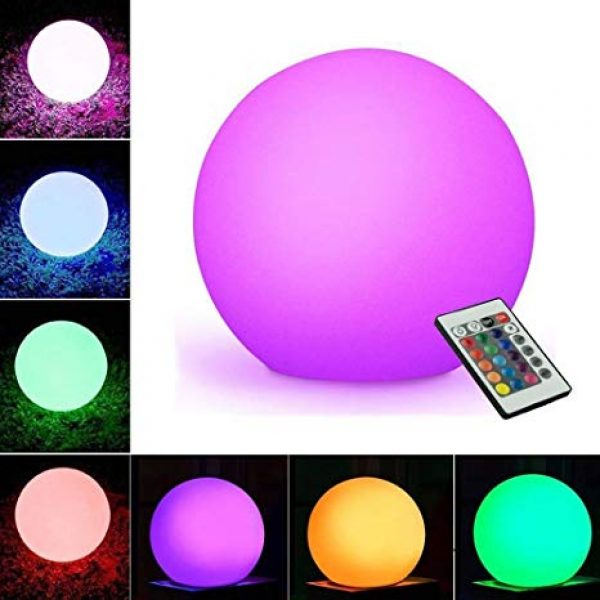 sfera luminosa led multicolor a batteria ricaricabile