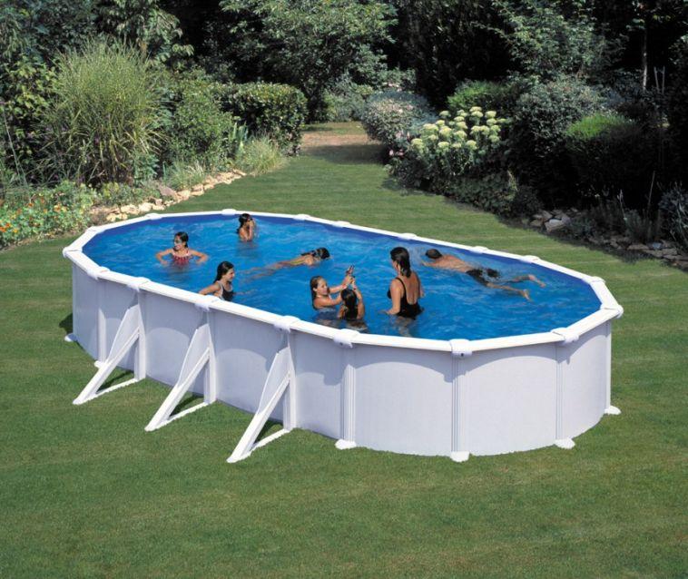 Piscina ovale gre atlantis bianca h 132 cm piscina for Piscina h 132