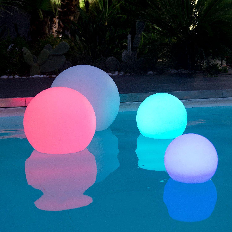 Sfera luminosa led multicolor diam 40 cm piscina for Luci tubolari a led