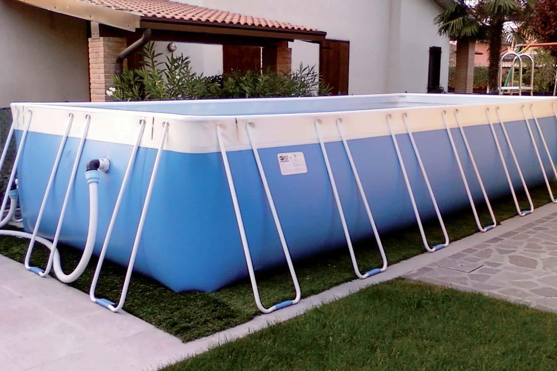 piscina autoportante rettangolare pvc mt 2 60 x 4 50 x 1