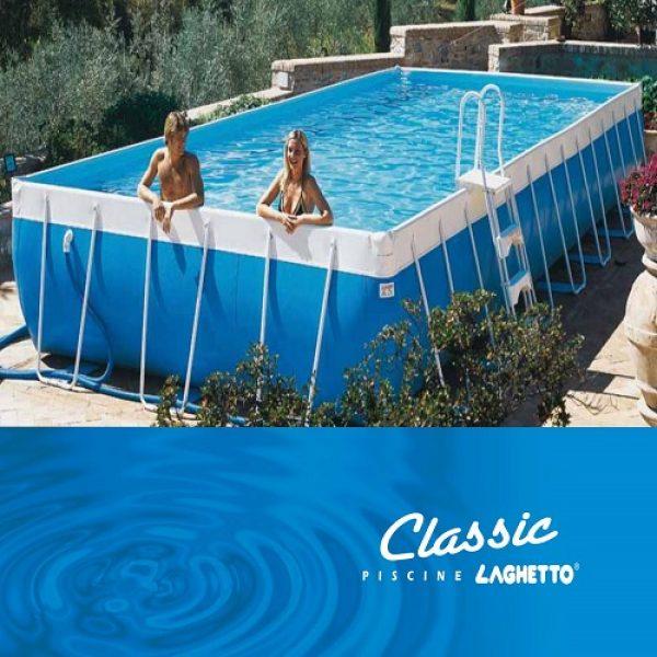 Piscina Laghetto Classic 27 Dim. Mt. 2,80×7,80×1,20 H Mt.