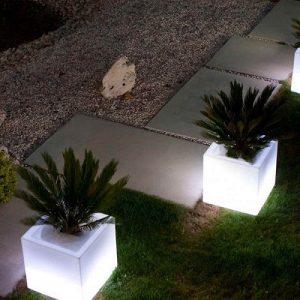 Cubo Fioriera Luminoso Monacis cm 40x40x40 H cm