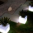 Cubo fioriera portavasi luminoso