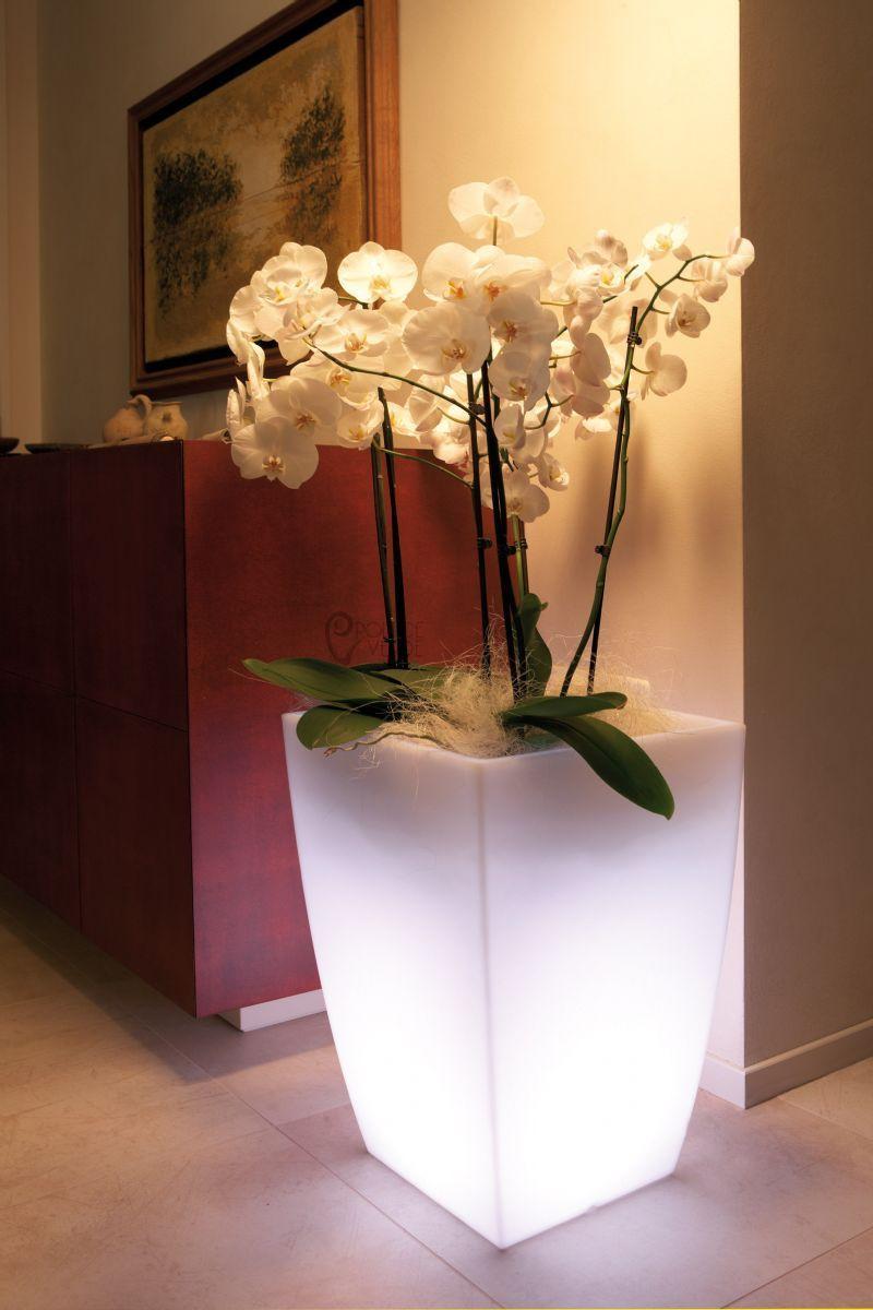 Vaso luminoso quadrato h 90 cm piscina giardino shop for Vasi arredo interni