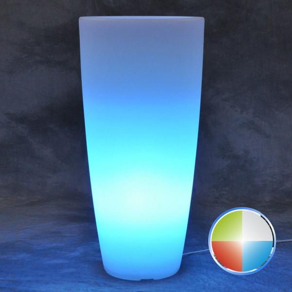 vaso tondo led rgb