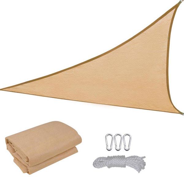 Vela tenda ombreggiante triangolare tessuto colore beige for Tenda vela ikea