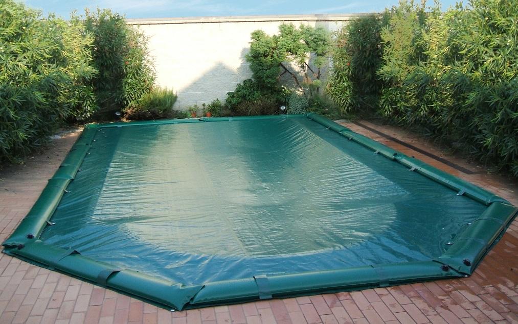 Telo copertura invernale piscina con tubolari in pvc mt 5 - Foto di piscine interrate ...