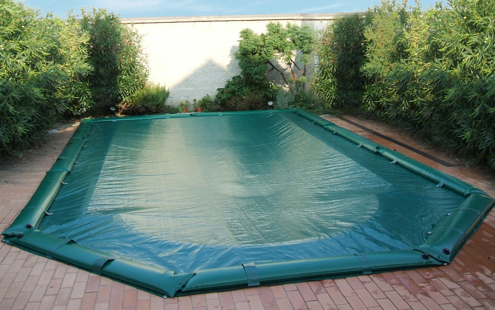 Telo copertura invernale piscina con tubolari in pvc mt 5 for Giardino invernale