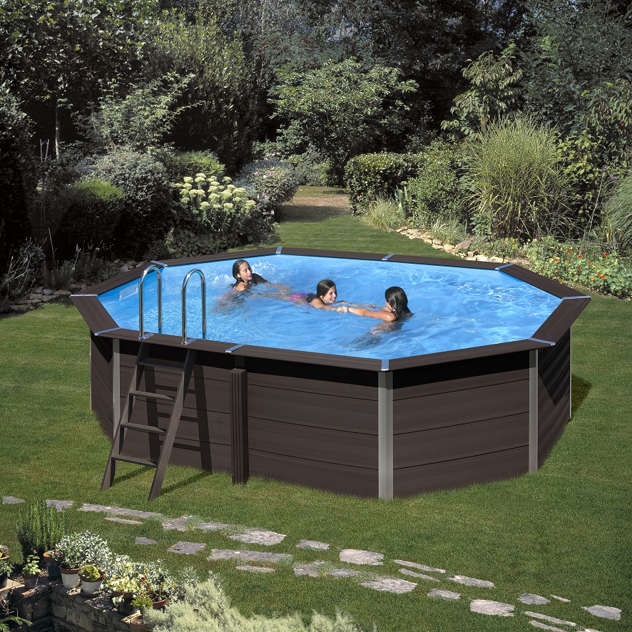 Piscina ovale gre avantgarde mt 5 24 x 3 86 x 1 24 h mt for Repuesto piscina gre