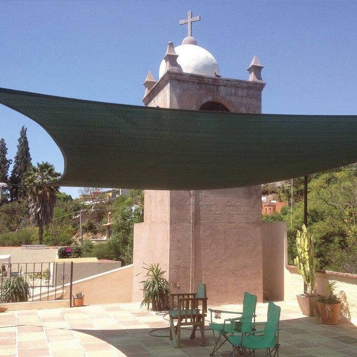 Vela tenda ombreggiante quadrata tessuto colore verde mt for Tenda ombreggiante