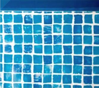 Liner Mosaico Vetroso per piscine ovali Gre