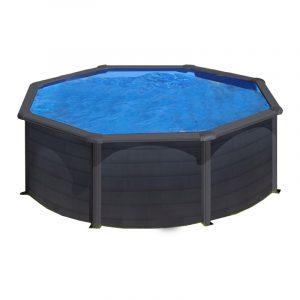 piscina gre star pool tonda effetto grafite