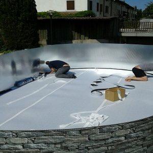 tappeto protezione liner piscina gre
