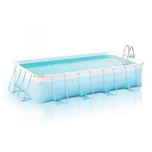 piscina fuori terra rettangolare morbida in pvc