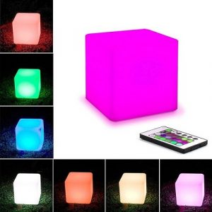 cubo luminoso rgb batteria