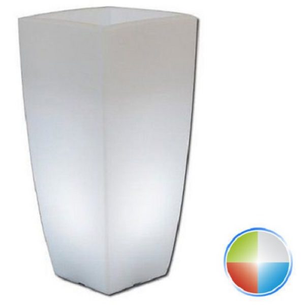 vaso quadro luminoso led multicolor