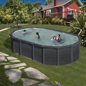 piscina gre ovale capri grafite