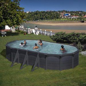 piscina gre ovale granada grafite
