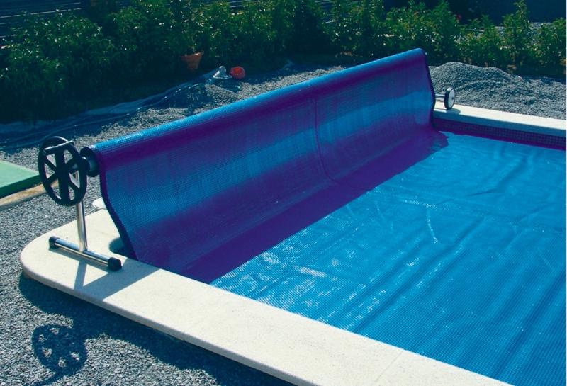 Rullo avvolgitore per coperture a bolle piscina for Copertura invernale piscina gre