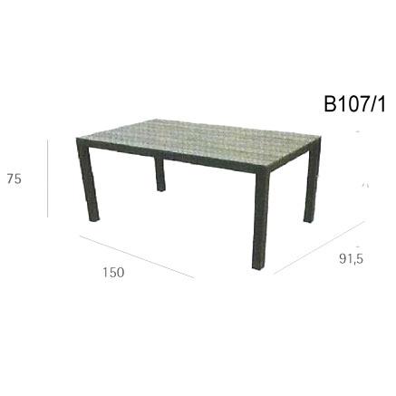 TAVOLO E SEDIE HAITI  alluminio/wpc/textilene
