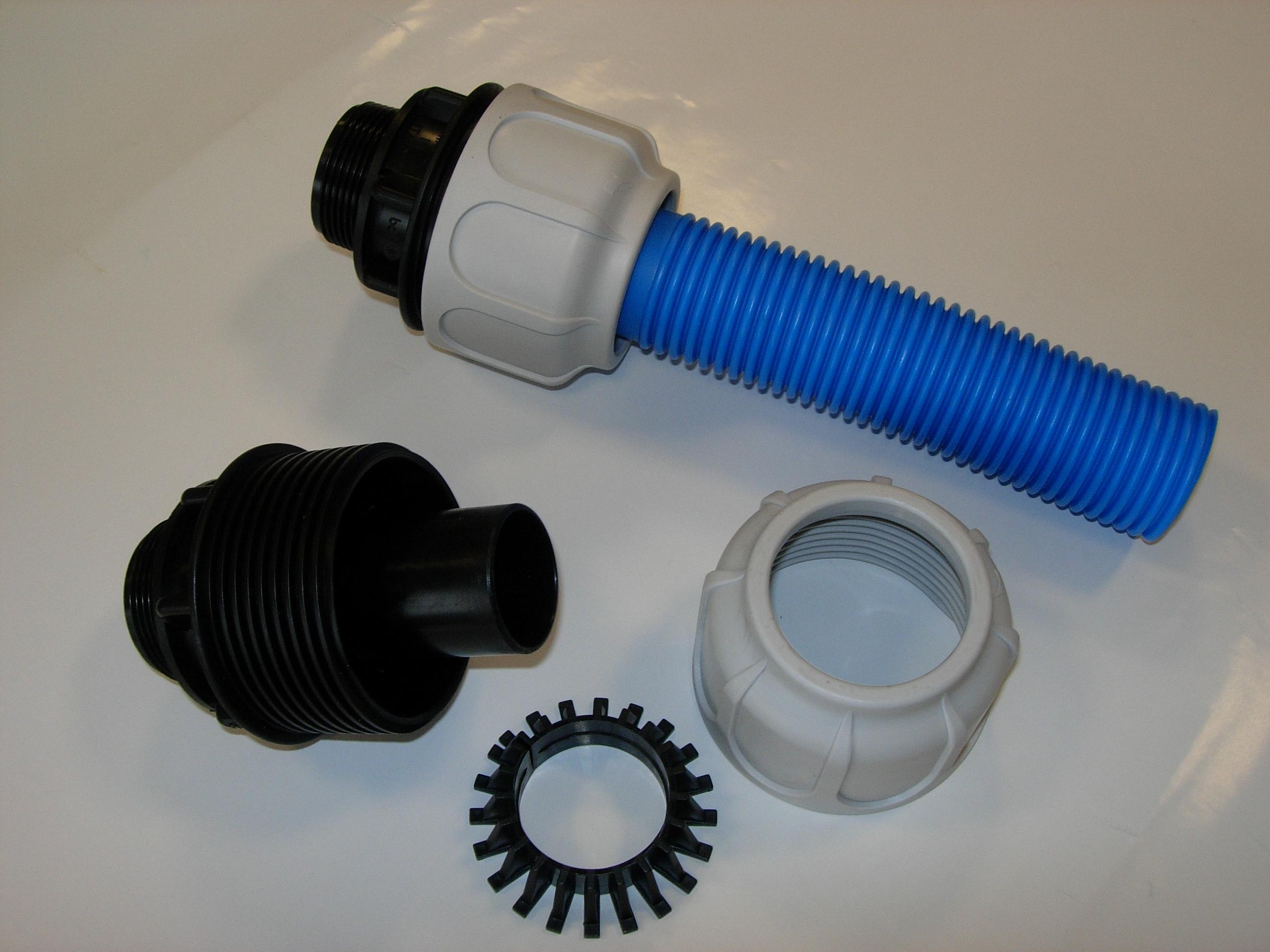 Raccordi a compressione per tubo piscina 38 mm 1 pz for Tubo giardino 5 8